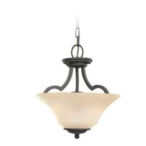 Sea Gull Lighting Somerton 2 Light Blacksmith Semi Flush Fixture 77375 839