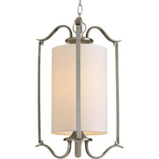 Progress Lighting Inspire Collection 1 Light Brushed Nickel Foyer Pendant P3799 09