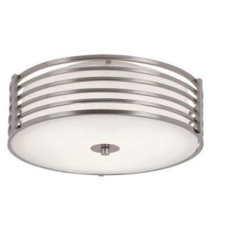 Filament Design Cabernet Collection 3 Light Brushed Nickel Semi Flush Mount with White Frosted Shade CLI WUP594585