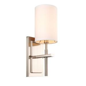 Hampton Bay Remington Collection 1 Light Brushed Nickel Wall Sconce HEF7411A