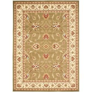 Safavieh Lyndhurst Green/Ivory 6 ft. 7 in. x 9 ft. 6 in. Area Rug LNH553 5212 7
