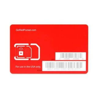 Red Pocket Mobile Dual Cut SIM Card   GSM, 850MHz & 1900MHz Frequencies, Works W No Contract Phones & Plans