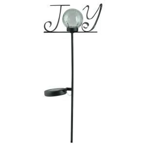 Moonrays Outdoor Black Solar Powered Color Changing LED Joy Stake Light DISCONTINUED 96897