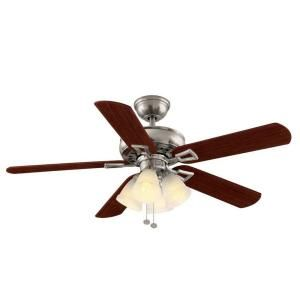 Hampton Bay Lyndhurst 52 in. Indoor Brushed Nickel Ceiling Fan 51091