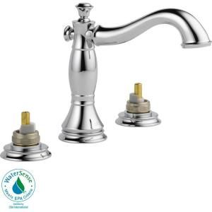 Delta Cassidy 8 in. 2 Handle High Arc Bathroom Faucet in Chrome   Less Handles 3597LF MPU LHP