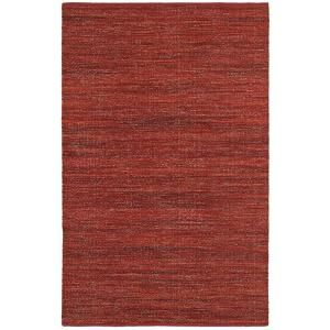 LR Resources Tribeca Red 5 ft. x 7 ft. 9 in. Reversible Wool Dhurry Indoor Area Rug LR04315 RED58