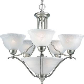 Progress Lighting Avalon Collection 5 Light Brushed Nickel Chandelier P4069 09