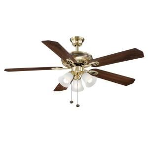 Hampton Bay Glendale 52 in. Flemish Brass and Gold Ceiling Fan AG524 FB