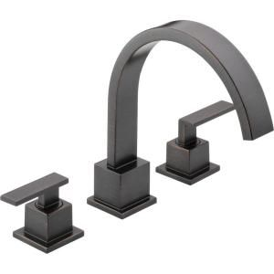 Delta Vero 2 Handle Roman Tub Trim Kit Only in Venetian Bronze (Valve not included) T2753 RB
