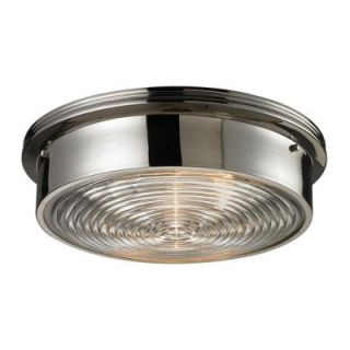 Titan Lighting 3 Light Ceiling Polished Nickel Flush mount TN 7779