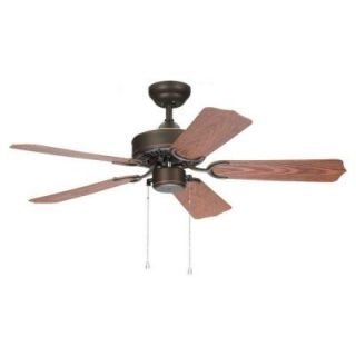 Sea Gull Lighting Panorama 42 in. Outdoor Roman Bronze Ceiling Fan 15045 191