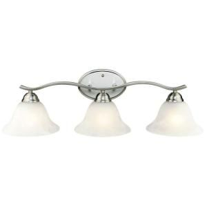 Hampton Bay 3 Light Brushed Nickel Bath Vanity 705075