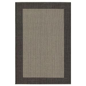 Direct Home Textiles Simple Border Black 8 ft. x 11 ft. Indoor/Outdoor Area Rug DISCONTINUED 6776 96132 546
