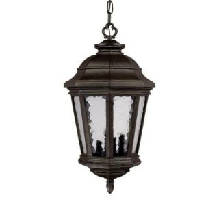 Acclaim Lighting Barrington Collection Hanging Lantern 4 Light Outdoor Marbleized Mahogany Light Fixture 226MM