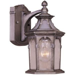 Hampton Bay 1 Light Oxide Silver Wall Mount Outdoor Lantern DISCONTINUED HB48002P 228