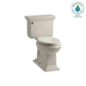 KOHLER Memoirs Stately Comfort Height 2 piece 1.28 GPF Elongated Toilet with AquaPiston Flush Technology in Sandbar K 3817 G9