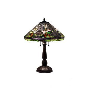 Serena Ditalia 25 in. Tiffany Calla Lilly Bronze Table Lamp TF18228TL