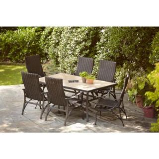 Hampton Bay Pembrey 7 Piece Patio Dining Set HD14214