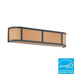 Glomar Odeon 3 Light Aged Bronze Wall Sconce HD 3823