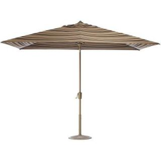 Home Decorators Collection 10 ft. Auto Tilt Patio Umbrella in Macaw Sunbrella with Champagne Frame 1549120880