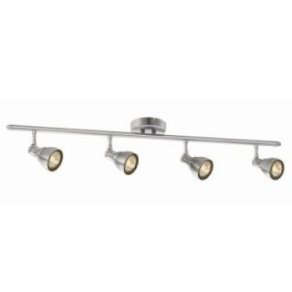 Hampton Bay 4 Light 34 7/8 in. Brushed Nickel Fixed Track Lighting Kit HBTK601P 35
