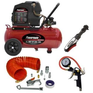Powermate 7 Gal. Horizontal Portable Air Compressor with Accessories VPP1580719.KIT