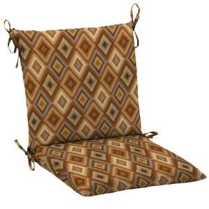 Hampton Bay Rustic Diamond Mid Back Outdoor Chair Cushion AC17552X 9D1