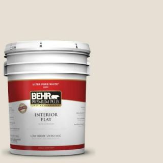 BEHR Premium Plus 5 gal. #1873 Off White Flat Interior Paint 105005