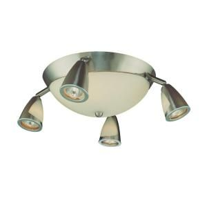 Hampton Bay 5 Light Semi Flush Mount Brushed Steel Ceiling Fixture EC9084SBA