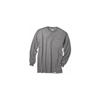 Dickies Extra Extra Large Gray Mens Long Sleeve T Shirt  WL511HG 2X Health