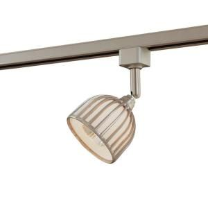 Hampton Bay Linear Track Fixture Brushed Steel Metal/Glass Shade EC4181BA