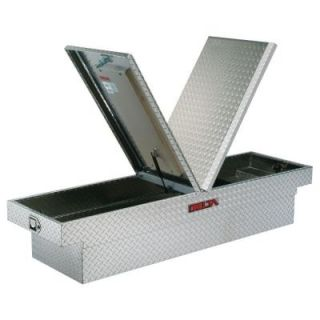 71.125 in. Aluminum Mid Lid Dual Lid Full Size Crossover Tool Box in Bright DAC1306000