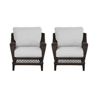 Hampton Bay Woodbury Patio Lounge Chair with Bare Cushion (2 Pack) DY9127 L B