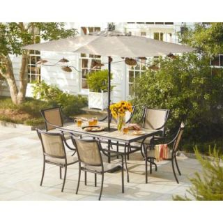 Hampton Bay Andrews 7 Piece Patio Dining Set T07F2U0Q0017