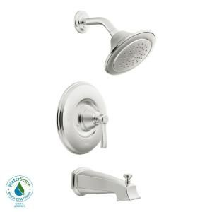 MOEN Rothbury Posi Temp 1 Handle 1 Spray Tub and Shower Faucet Trim Kit in Chrome (Valve not included) TS2213EP