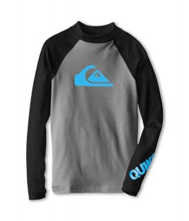 Quiksilver Kids All Time L/S Surf Shirt Boys Swimwear (Gray)