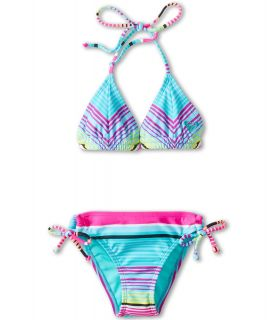 Roxy Kids Tropical Stripe Double Casing Tri Set Girls Swimwear Sets (Multi)