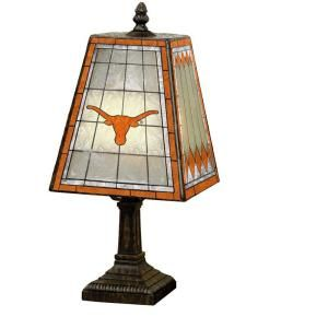 The Memory Company NCAA 14 in. Texas Longhorns Art Glass Table Lamp DISCONTINUED COL TEX 462