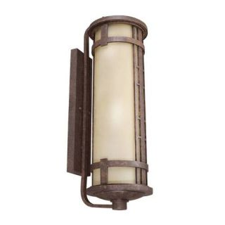 Kichler 11039AGZ Outdoor Light, Transitional Wall 4 Light Fluorescent Fixture Aged Bronze