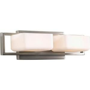 Progress Lighting Dibs Collection 2 Light Brushed Nickel Bath Light P2765 09WB
