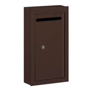 Salsbury Industries 2260 Series Bronze Slim Surface Mounted Private Letter Box with Commercial Lock 2260ZP