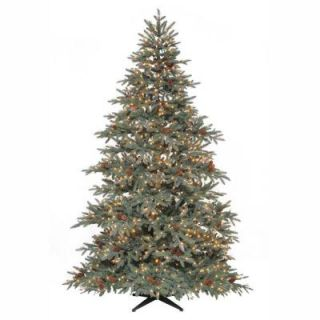 7.5 ft. Pre Lit Anson Pine Tree with Surebright Clear Lights and Pinecones ANS4533800SEC