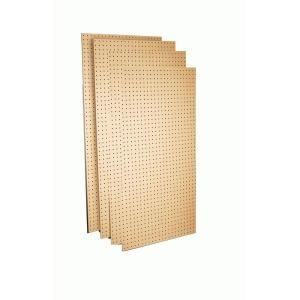 Triton Products 24 in. x 48 in.x1/4 in. Round Hole Tempered Wood Commercial Grade Pegboard, 4 Boards TPB 4