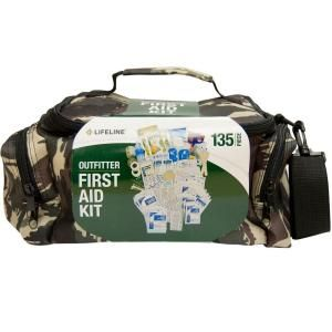 Lifeline 135 Piece ANSI Outfitter Emergency First Aid Kit Camouflage Duffel Bag 4039