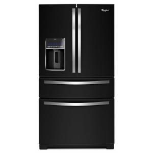 Whirlpool 28.1 cu. ft. French Door Refrigerator in Black Ice WRX988SIBE