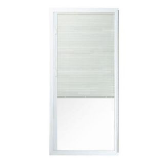 American Craftsman 50 Series 6/0, 35 1/2 in. x 77 1/2 in. White Vinyl Right Hand Fixed Patio Door Panel with Blinds, 1 of 4 Parts 50 PD B