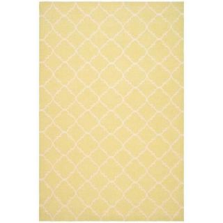 Safavieh Dhurries Light Green/Ivory 6 ft. x 9 ft. Area Rug DHU554A 6