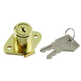 First Watch Security Polished Brass Keyed Alike Cabinet and Drawer Lock 1356 601
