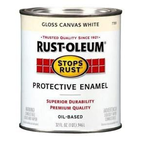 Rust Oleum Stops Rust 1 qt. Protective Enamel Gloss Canvas White Paint (2 Pack) 7789502