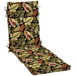 Hampton Bay Twilight Palm Outdoor Chaise Lounge Cushion AC32853B 9D1